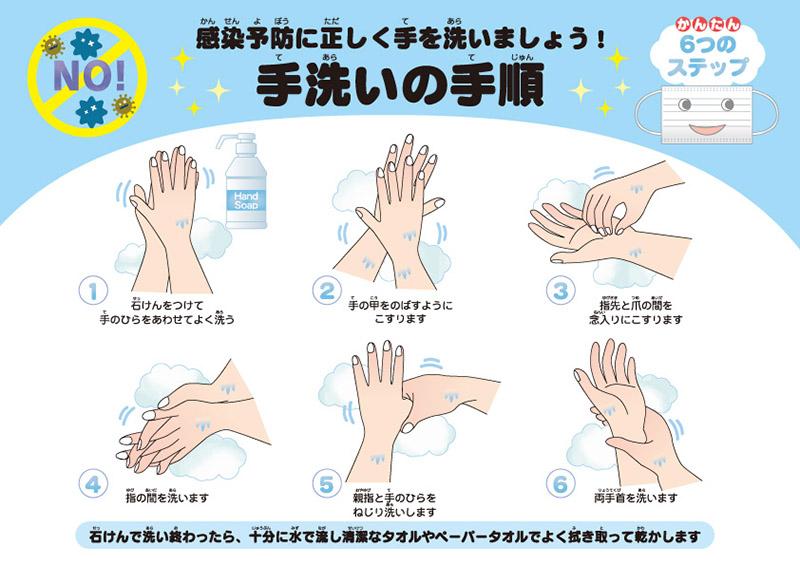 正しい手洗いの手順